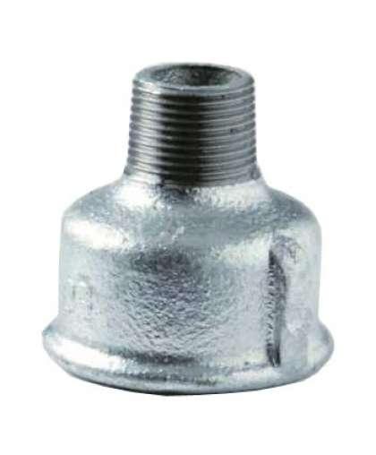 Муфта переходная оцинкованная вн/нар резьба Ду 50х32 мм (2