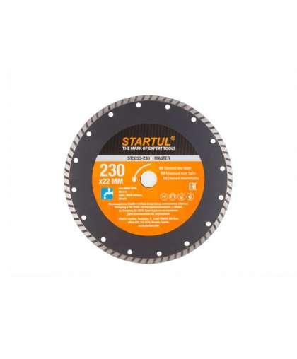 Алмазный круг 230х22 мм универс. Turbo MASTER STARTUL ST5055-230
