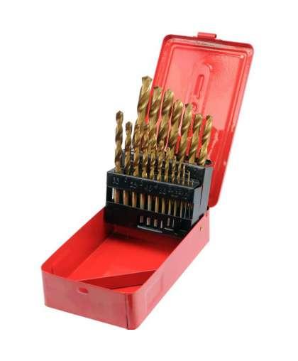 Набор свёрел по металлу (19 штук) 1-10 мм, Vorel