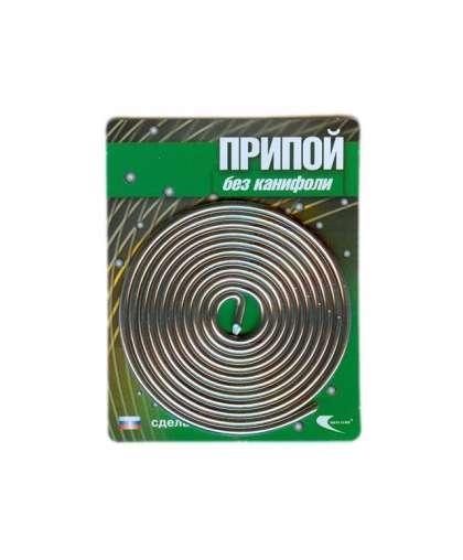 Припой ПОС 61 проволока, спираль ф2мм (длина 1м) 30212