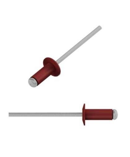 Заклепка вытяжная 4*10 мм алюминий-сталь, RAL 3011, SMZ1-42188-50,  STARFIX