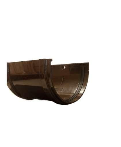 Соединитель желобов шоколад 120 мм, Docke