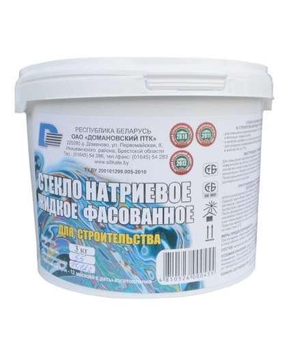 Жидкое стекло натриевое 1,5кг, Домановский ПТК