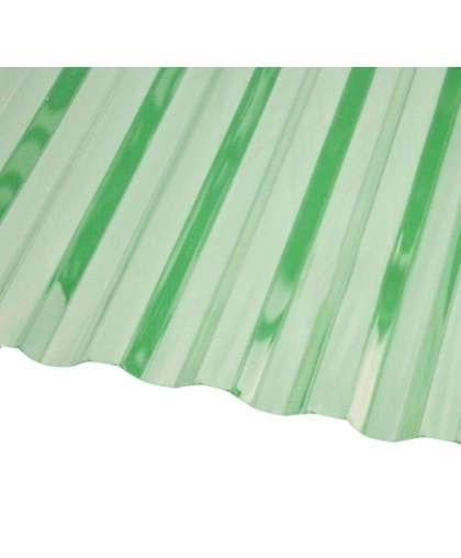 Кровельный монолитный поликарбонат (зелёный) 0,8*1050*2000 мм