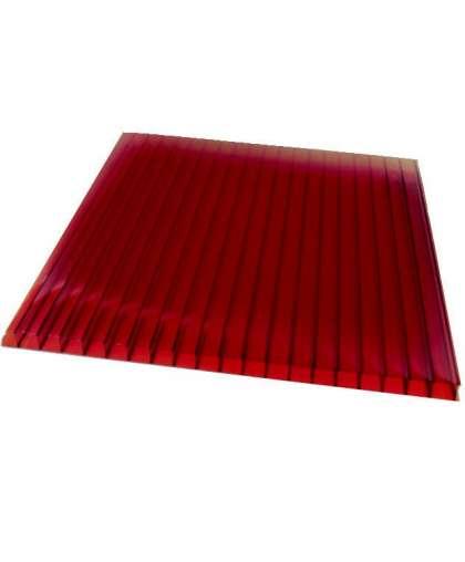 Сотовый поликарбонат 4 мм (красный), Сибирские теплицы