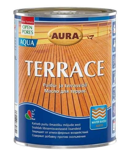 Aura Terrace Aqua Brown масло для террас 0,9л