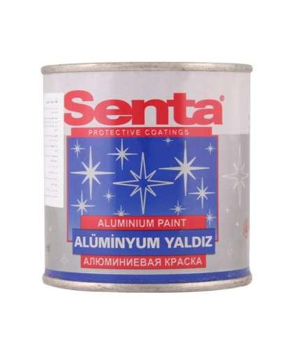 Краска декоратавная Aluminium paint термостойкая по металу и дереву Алюминиевая 0,35 л., Senta