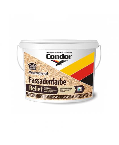 Краска Fassadenfarbe-Relief 15кг, Condor