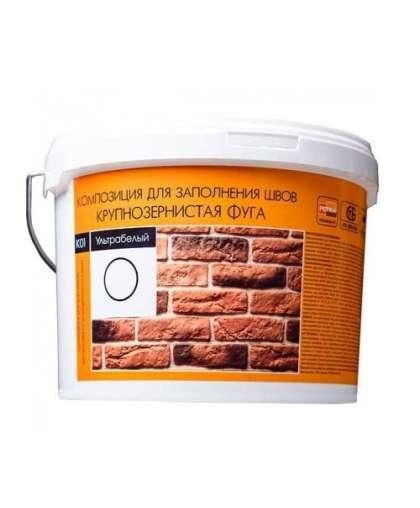 Композиция для заполнения швов крупнозернистая 5 кг ультрабелый К01, Petra
