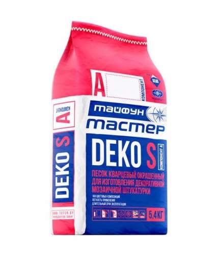 Песок кварцевый окрашенный А3 DEKO S 0.2-0.8 мм 5.4 кг кирпичный, Тайфун