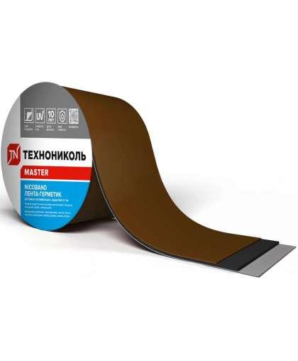 Самоклеящаяся герметизирующая лента NICOBAND шир.10 см, дл.10 м, цв. коричневый