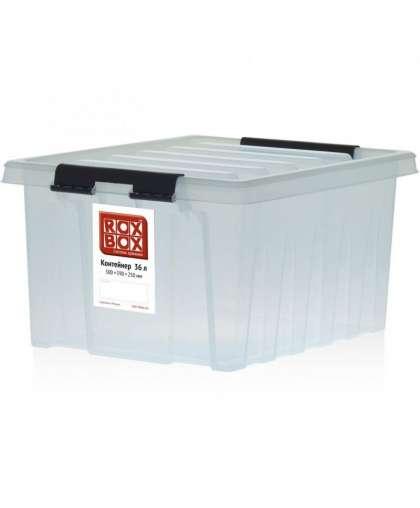 Универсальный ящик для хранения с крышкой (прозрачный) 16 л, Rox Box