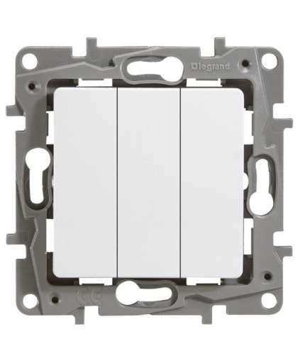 Выключатель Etika 3 клавиши без подсветки 672213 белый, Legrand