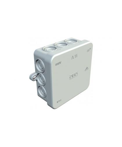 2000342 Коробка распред. A11 без клемм, IP54, 85х85х40мм, 12 вводов