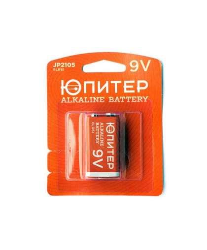 Батарейка 6LR61 9V alkaline 1 шт JP2105, ЮПИТЕР
