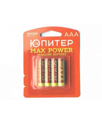 Батарейка AAA LR03 1,5V alkaline 4 шт JP2202, ЮПИТЕР